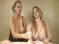 دو زن را چهار دست handjob daddu
