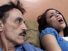 کریستینا رز دیک deepthroats گام-پدر