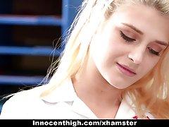 Innocenthigh - دختر مدرسه ای ریزه اندام دیک معلم او را دوست دارد