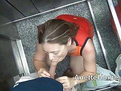 فرانسه رابطه جنسی دهانی در آسانسور و ورزش مقعد در سوپر مارکت