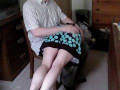 همسر spanked otk