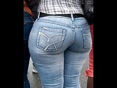 Milf بالغ در شلوار جین تنگ الاغ بزرگ لب به لب مادر phat غنیمت