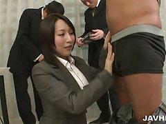 Yuuna hoshisaki او باید سفت کارفرمایان خدماتی