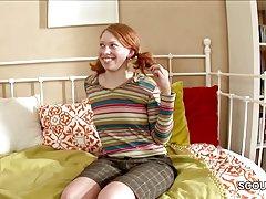 ریخته گری هاردکور جعلی برای نوجوان لاغر دارای موی سرخ آلمان