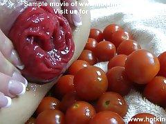 hotkinkyjo سبزیجات بازی مقعد (50 tomatos)