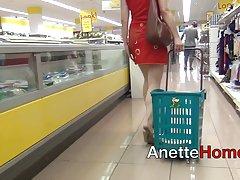 رابطه جنسی دهانی در آسانسور و نمایشگاه در سوپر مارکت
