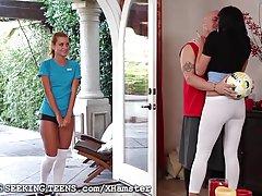 جسی راجرز زیر کلیک توسط زن و شوهر پس از فوتبال